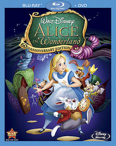 Alice in Wonderland (Blu-ray/DVD, 2011, 2-Disc Set, 60th Aniver)